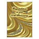50. Goldene Hochzeitstag-Gruß-Karte