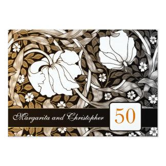 50 goldene Hochzeitstageinladungen 12,7 X 17,8 Cm Einladungskarte
