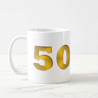 50. Goldene Jahrestags-Tasse Tasse