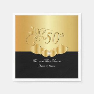 50. Goldener Text des Hochzeitstag-  DIY Servietten