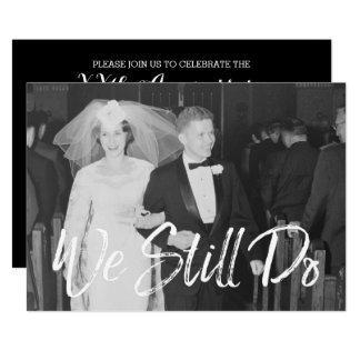 50. Hochzeits-Jahrestag mit Foto - wir tun noch Karte