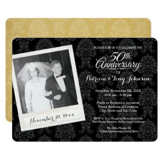 50. Hochzeits-Jahrestag mit Vintagem Foto Karte
