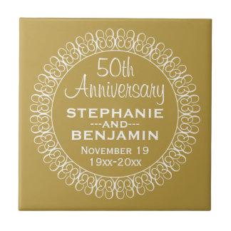 50. Hochzeits-Jahrestag personalisiert Keramikfliese