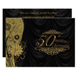 50. Hochzeits-Jahrestag UAWG 12,7 X 17,8 Cm Einladungskarte