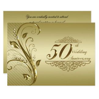 50. Hochzeits-Jahrestag UAWG 8,9 X 12,7 Cm Einladungskarte