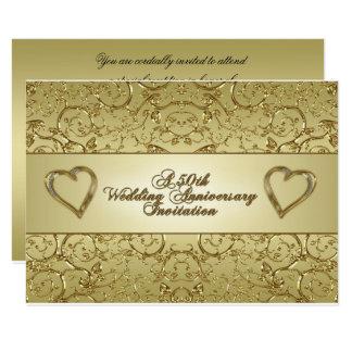 50. Hochzeits-Jahrestag UAWG Einladungs-Karte 8,9 X 12,7 Cm Einladungskarte