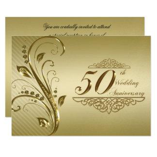50. Hochzeits-Jahrestag UAWG Karte