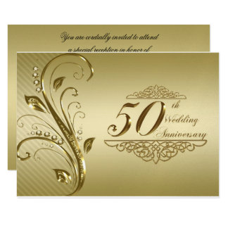 50. Hochzeits-Jahrestag UAWG Karte 8,9 X 12,7 Cm Einladungskarte