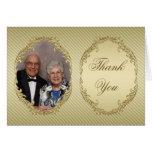 50. Hochzeits-Jahrestags-Foto danken Ihnen Anmerku Grußkarten