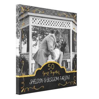 50. Hochzeits-Jahrestags-Paar-Foto-Andenken Leinwanddruck