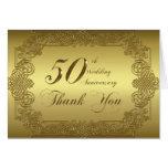 50. Hochzeitstag danken Ihnen Anmerkungs-Karte