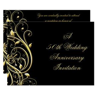 50. Hochzeitstag-Einladung 14 X 19,5 Cm Einladungskarte