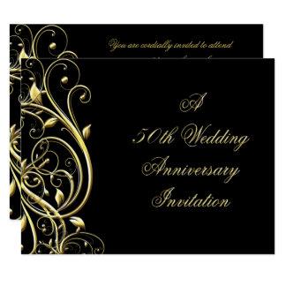 50. Hochzeitstag-Einladung Karte