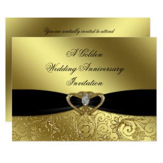 50. Hochzeitstag-Einladungs-Karte 11,4 X 15,9 Cm Einladungskarte
