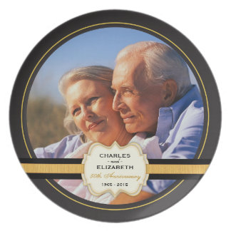 50. Hochzeitstag-Gedenkplatte Party Teller