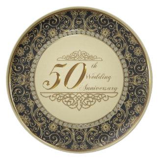 50. Hochzeitstag-Melamin-Platte Teller