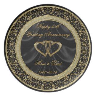 50. Hochzeitstag-Platte Flache Teller