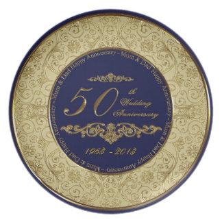 50. Hochzeitstag-Platte Party Teller