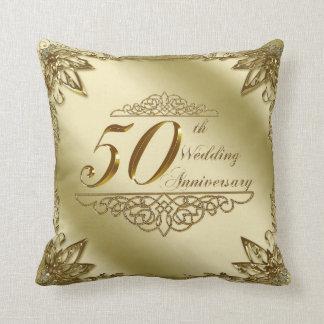 50. Hochzeitstag-Wurfs-Kissen Kissen