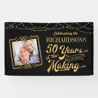 50 Jahre im machenden goldenen Jahrestag Banner