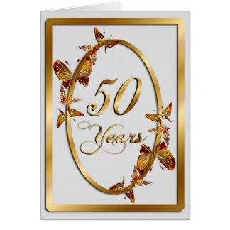 50 Jahre (Jahrestag) Grußkarte