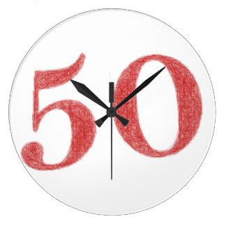 50 Jahre Jahrestag Wanduhren