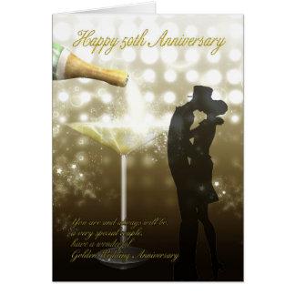 50. Jahrestag - Champagne Karte