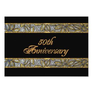 50. Jahrestagseinladung 12,7 X 17,8 Cm Einladungskarte