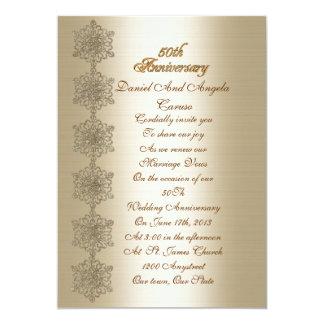 50. Jahrestagsversprechen-Erneuerung Einladung