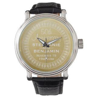 50. Personalisiertes Gold des Uhren