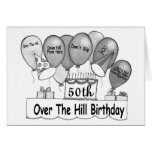 50. Über dem Hügel-Geburtstag Grußkarten