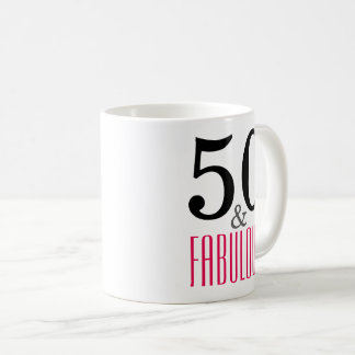 50 und fabelhafte Geburtstags-Geschenk-Tasse Tasse