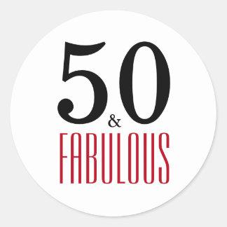 50 geburtstag aufkleber for Dekoration fa r 50 geburtstag