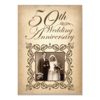 50. Vintage Einladung des Hochzeitsjahrestages