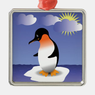 52penguin silbernes ornament