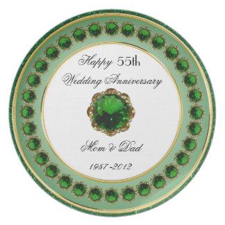 55. Hochzeitstag-Melamin-Platte Flacher Teller