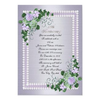 55. Hochzeitstagversprechen-Erneuerung Lavendel 12,7 X 17,8 Cm Einladungskarte