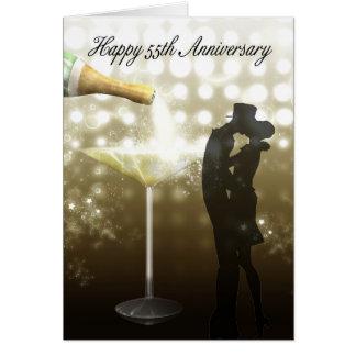 55. Jahrestag - Champagne Karte
