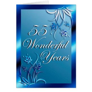 55 wunderbare Jahre (Jahrestag) Grußkarte