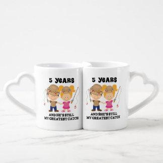 5. Jahrestags-zusammenpassende Partnertassen