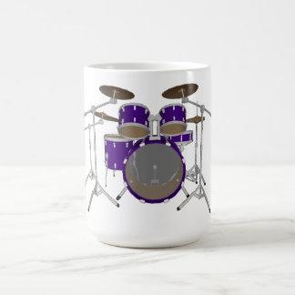5 Stück-Trommel-Ausrüstung: Veilchen: Kaffeetasse
