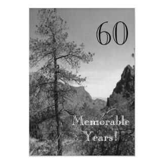 60 denkwürdige Jahre/Geburtstag Feier-Natur Karte