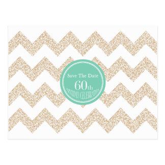 60. Geburtstags-Party wählen Save the Date Farbe Postkarten