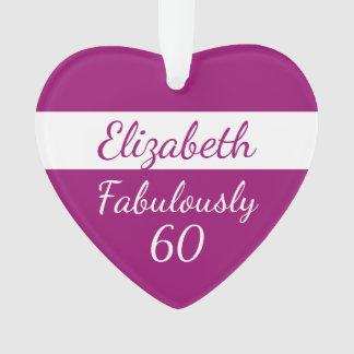 60. Geburtstags-rosa Verzierung fabelhaft 60 Ornament