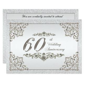 60. Hochzeits-Jahrestag UAWG Karte 8,9 X 12,7 Cm Einladungskarte
