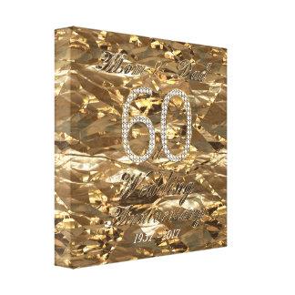 60. Hochzeitstag-Diamant-Hochzeits-Eltern Galerie Faltleinwand