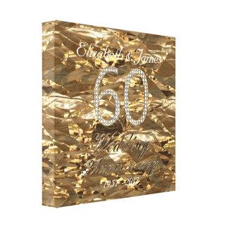 60. Hochzeitstag-Diamant-Hochzeits-Goldblick Gespannte Galerie Drucke