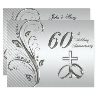 60. Hochzeitstag-Einladungs-Karte 10,8 X 14 Cm Einladungskarte