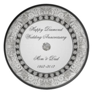60. Hochzeitstag-Platte Flacher Teller
