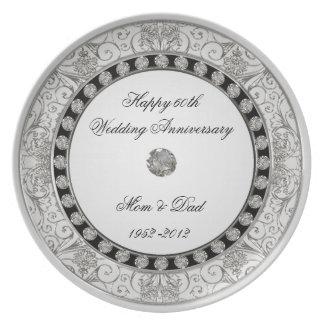 60. Hochzeitstag-Platte Party Teller